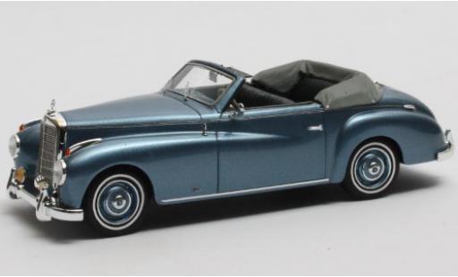 Mercedes 220 1/43 Matrix A Cabriolet Wendler (W187) metallise bleue 1952 Verdeck geöffnet miniature