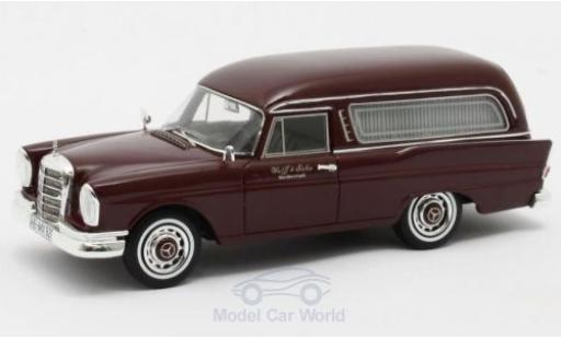 Mercedes 220 1/43 Matrix SE (W111) Pollmann rouge 1966 miniature