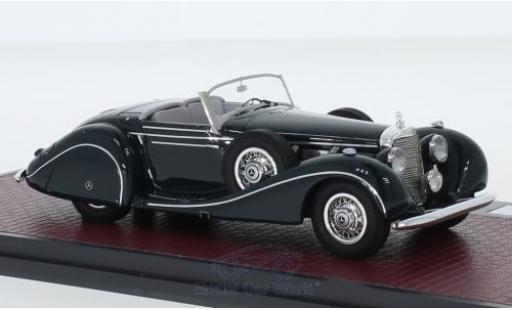 Mercedes 540 1/43 Matrix K Spezialroadster Sindelfingen green 1939 diecast model cars