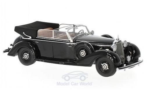 Mercedes 770 1/43 Matrix Cabriolet D noire 1938 offen miniature