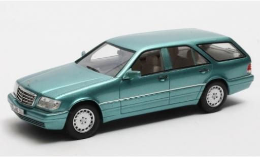 Mercedes S500 1/43 Matrix T-Modell Binz Cadform (S140) Prougeotyp metallise turquoise 1994 miniature