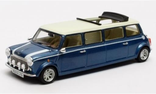 Mini Cooper 1/43 Matrix Limousine metallise bleue/blanche RHD 1995 miniature