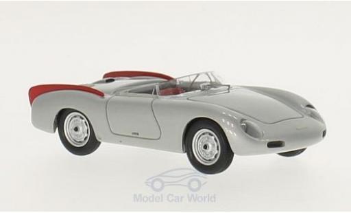 Porsche 356 1/43 Matrix Zagato Spyder gris/rojo 1958 miniatura