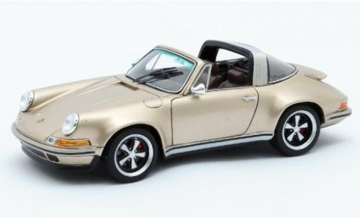 Porsche 911 1/43 Matrix Targa Singer Design gold miniature