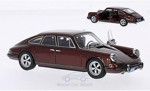 Porsche 911 1/43 Matrix Trautman & Barnes metallise brown 1972 mit 2 geöffneten Türen diecast model cars