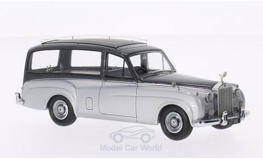 Rolls Royce Silver Cloud 1/43 Matrix Simpson & Slater Hearse grise/metallise grise RHD miniature
