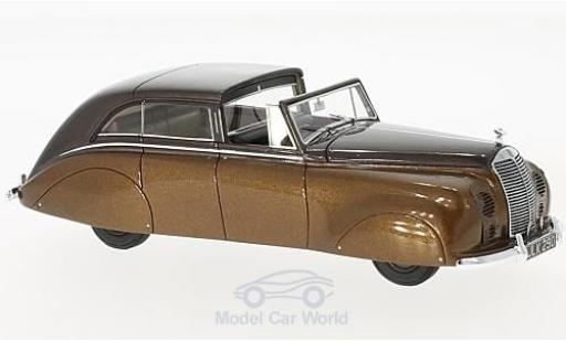 Rolls Royce Silver Wraith 1/43 Matrix Sedanca de Ville by Hopper metallise marron RHD 1947 miniature