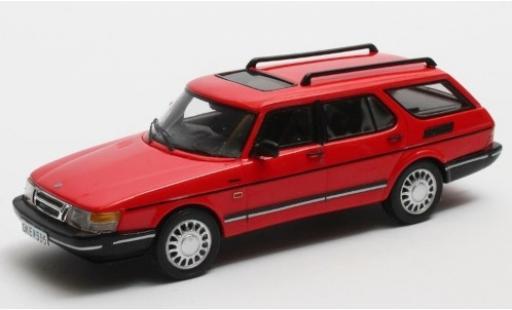 Saab 900 1/43 Matrix Safari rouge 1990 miniature