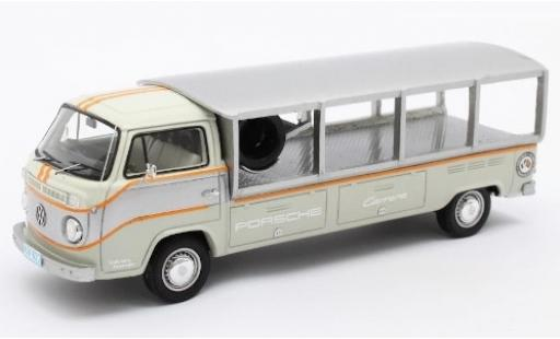 Volkswagen T2 1/43 Matrix Renntransporter grey/white RHD 1976 diecast