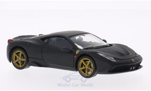 Ferrari 458 1/43 Mattel Elite Speciale matt-nero 2013 ohne Vitrine modellino in miniatura