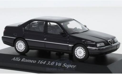 Alfa Romeo 164 1/43 Maxichamps 3.0 V6 Super bleue 1992 miniature