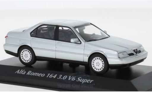 Alfa Romeo 164 1/43 Maxichamps 3.0 V6 Super grise 1992 miniature