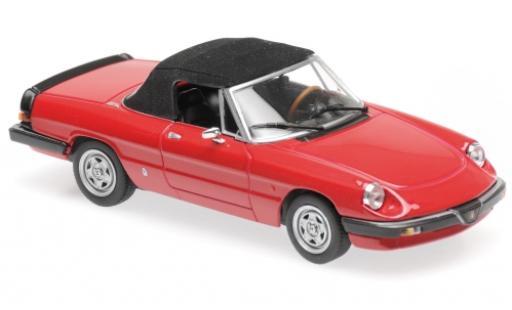 Alfa Romeo Spider 1/43 Maxichamps rosso 1983 miniatura