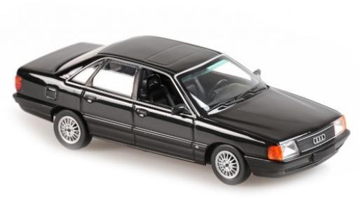 Audi 100 1/43 Maxichamps metallise negro 1990 coche miniatura