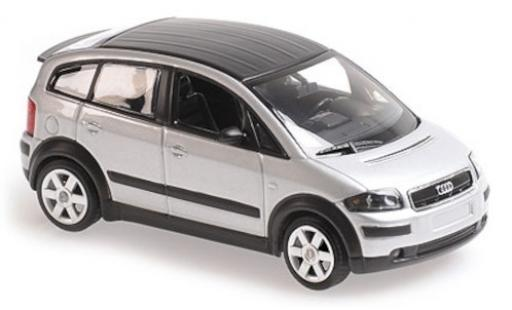 Audi A2 1/43 Maxichamps grey/matt-black 2000 diecast model cars