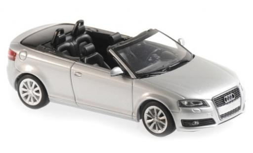 Audi A3 1/43 Maxichamps Cabriolet grey 2007 diecast model cars