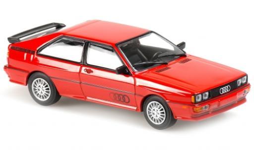 Audi Quattro 1/43 Maxichamps rouge/Dekor 1980 miniature