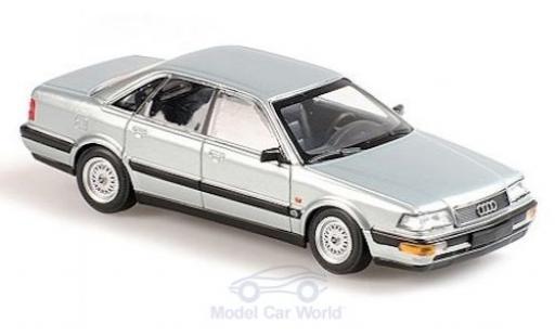 Audi V8 1/43 Maxichamps grise 1988 miniature