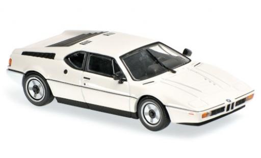 Bmw M1 1/43 Maxichamps white 1979 diecast model cars