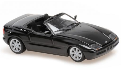 Bmw Z1 1/43 Maxichamps (E30 Z) metallise negro 1991 coche miniatura