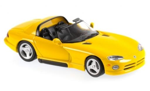 Dodge Viper 1/43 Maxichamps yellow 1993 diecast model cars