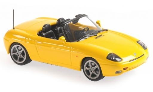 Fiat Barchetta 1/43 Maxichamps amarillo 1995 coche miniatura