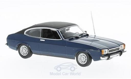 Ford Capri 1974 1/43 Maxichamps II 2.3 GT bleue/noire miniature