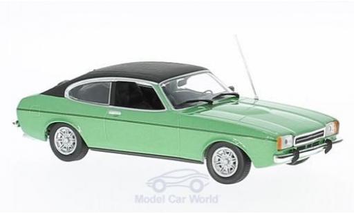 Ford Capri 1974 1/43 Maxichamps II 2.3 GT metallise verte/noire miniature