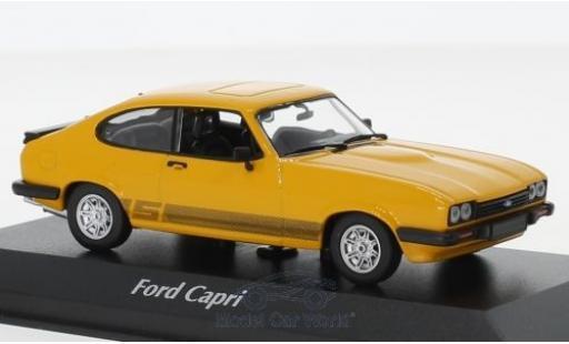 Ford Capri 1/43 Maxichamps MKIII 3.0 S jaune 1982 miniature