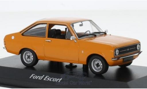 Ford Escort 1/43 Maxichamps 1.3 orange 1975 miniature