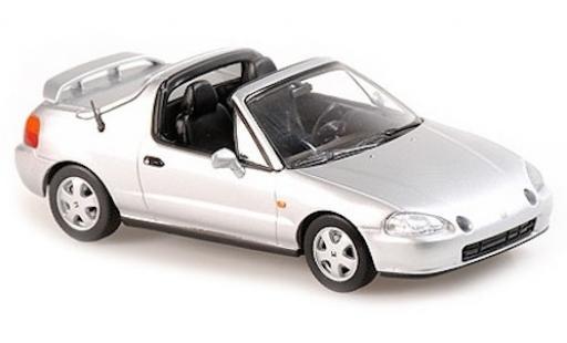 Honda CR-X 1/43 Maxichamps del Sol grise 1992 miniature
