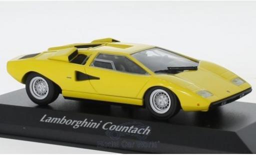 Lamborghini Countach 1/43 Maxichamps LP 400 jaune 1970 miniature
