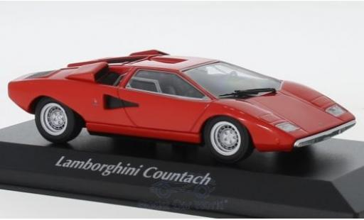 Lamborghini Countach 1/43 Maxichamps LP 400 rouge 1970 miniature