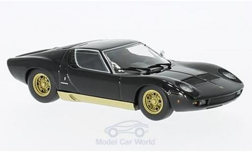 Lamborghini Miura 1/43 Maxichamps black/gold 1966 diecast model cars