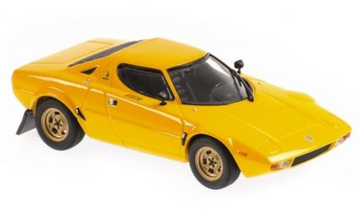Lancia Stratos 1/43 Maxichamps yellow 1974 diecast model cars