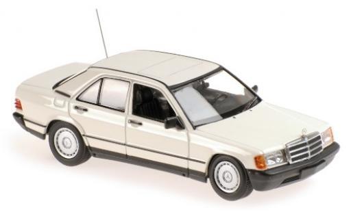 Mercedes 190 1/43 Maxichamps E (W201) blanche 1984 miniature