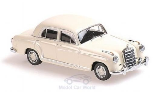 Mercedes 220 1/43 Maxichamps S blanche 1956 miniature