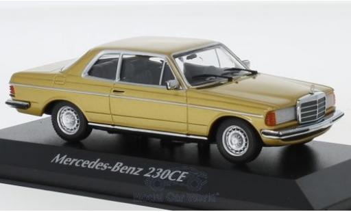 Mercedes 230 1/43 Maxichamps CE (W123) gold 1976 miniature