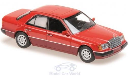 Mercedes 230 1/43 Maxichamps E (W124) rouge 1991 miniature