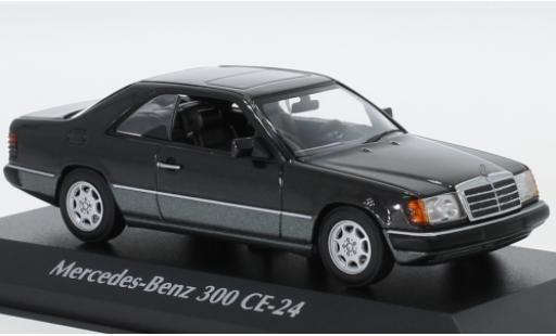 Mercedes Classe E 1/43 Maxichamps 300 CE-24 (C124) metallise noire 1991 miniature