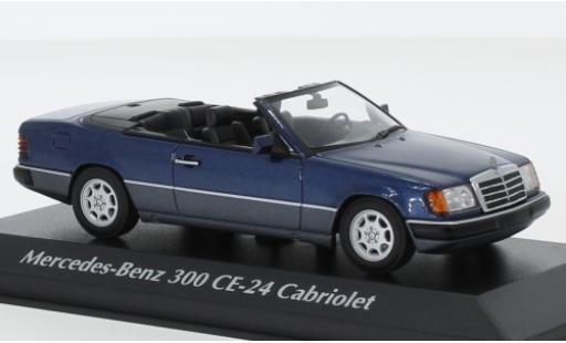 Mercedes 300 1/43 Maxichamps CE-24 Cabriolet (A124) metallise bleue 1991 miniature