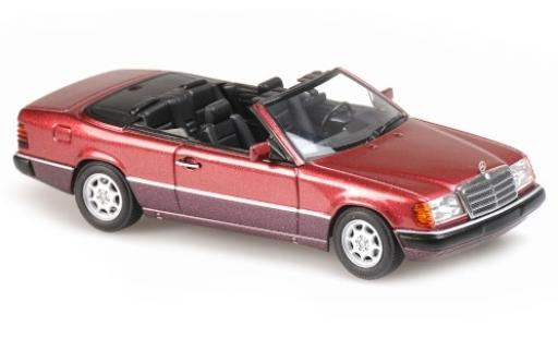 Mercedes 300 1/43 Maxichamps CE-24 Cabriolet (A124) metallise red 1991 diecast model cars