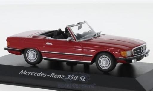 Mercedes 350 1/43 Maxichamps SL (R107) rouge 1974 miniature