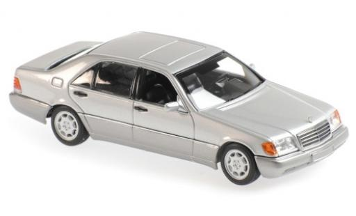 Mercedes 600 1/43 Maxichamps SEL (W140) grey 1992 diecast model cars