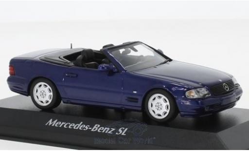 Mercedes Classe SL 1/43 Maxichamps SL azul 1999 miniatura