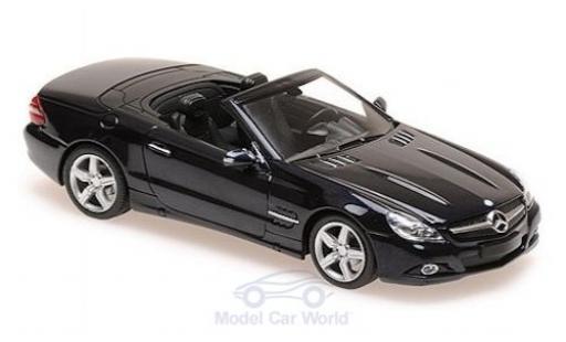 Mercedes Classe SL 1/43 Maxichamps (R230) metallise bleue 2008 miniature