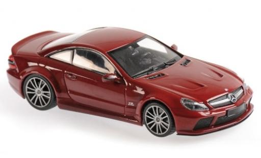 Mercedes Classe SL 1/43 Maxichamps SL65 AMG Black Series (R230) red 2009 diecast model cars