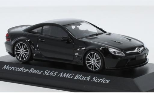 Mercedes Classe SL 1/43 Maxichamps SL65 AMG Black Series (R230) black 2009 diecast model cars
