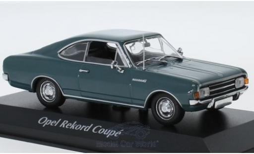 Opel Rekord 1/43 Maxichamps C Coupe bleue 1966 miniature
