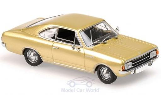 Opel Rekord 1/43 Maxichamps C Coupe gold 1966